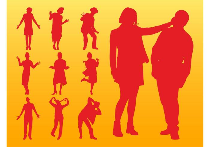People Silhouettes Layouts