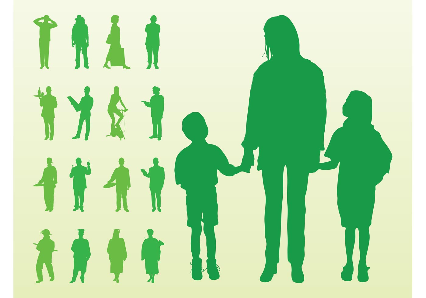 vector silhouette of people - photo #26
