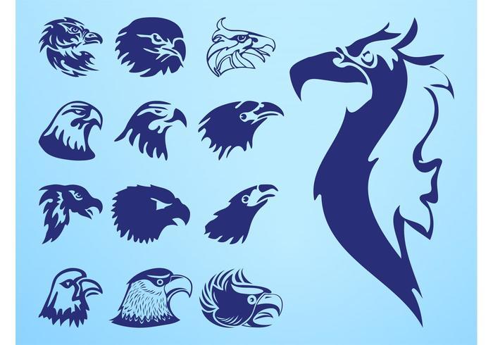 Eagle Heads Set