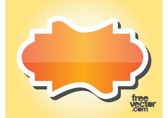Orange Sticker Design