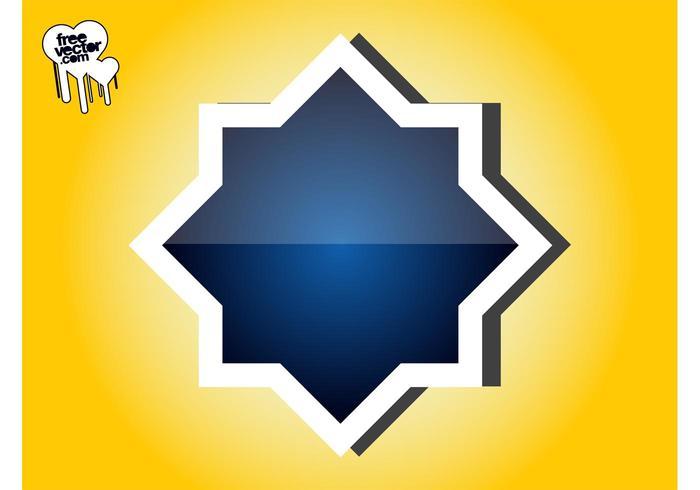 Blue Sticker Design