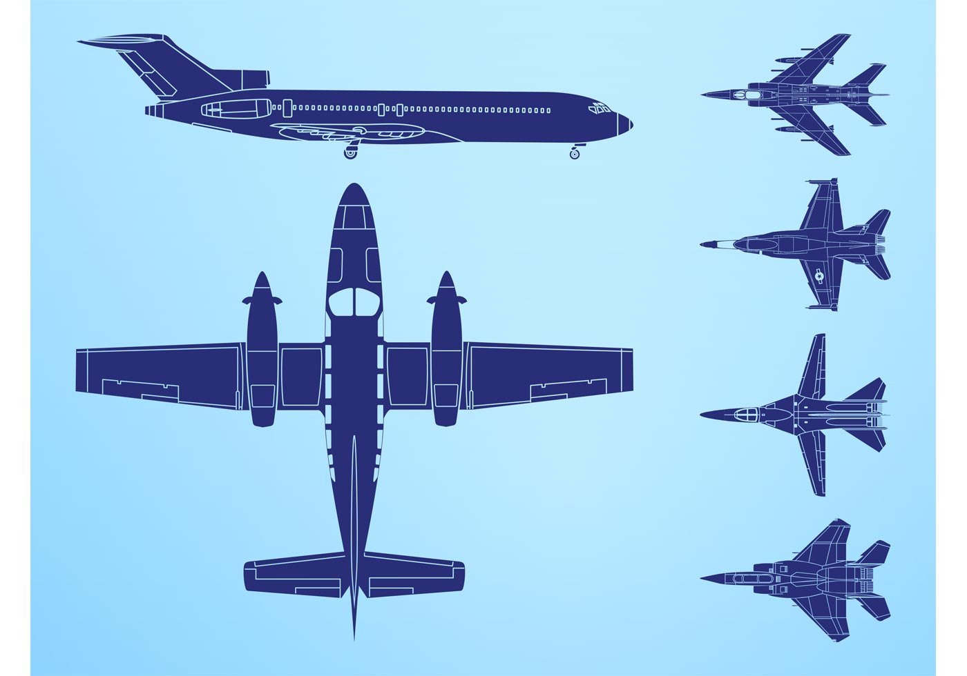 Airplanes Graphics Download Free Vector Art Stock