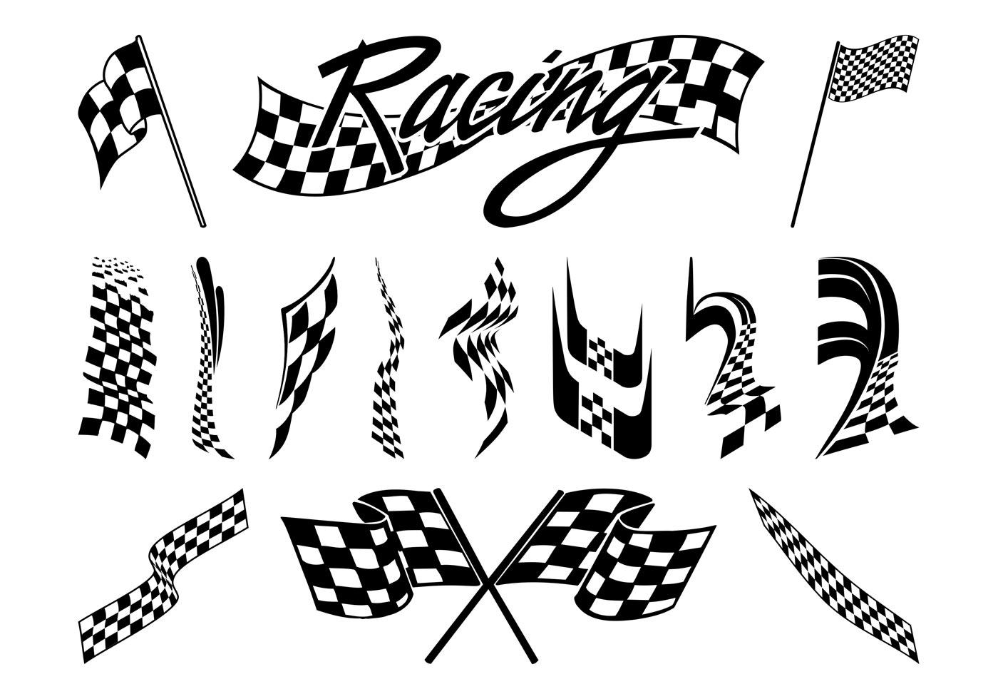 racing flags graphics set