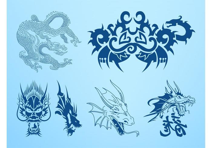 Dragons Vector Graphics
