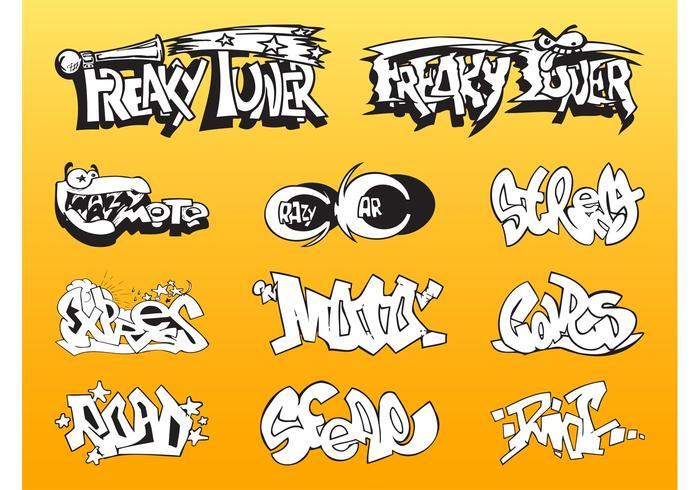 Car Graffiti Set