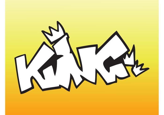 King Graffiti Piece
