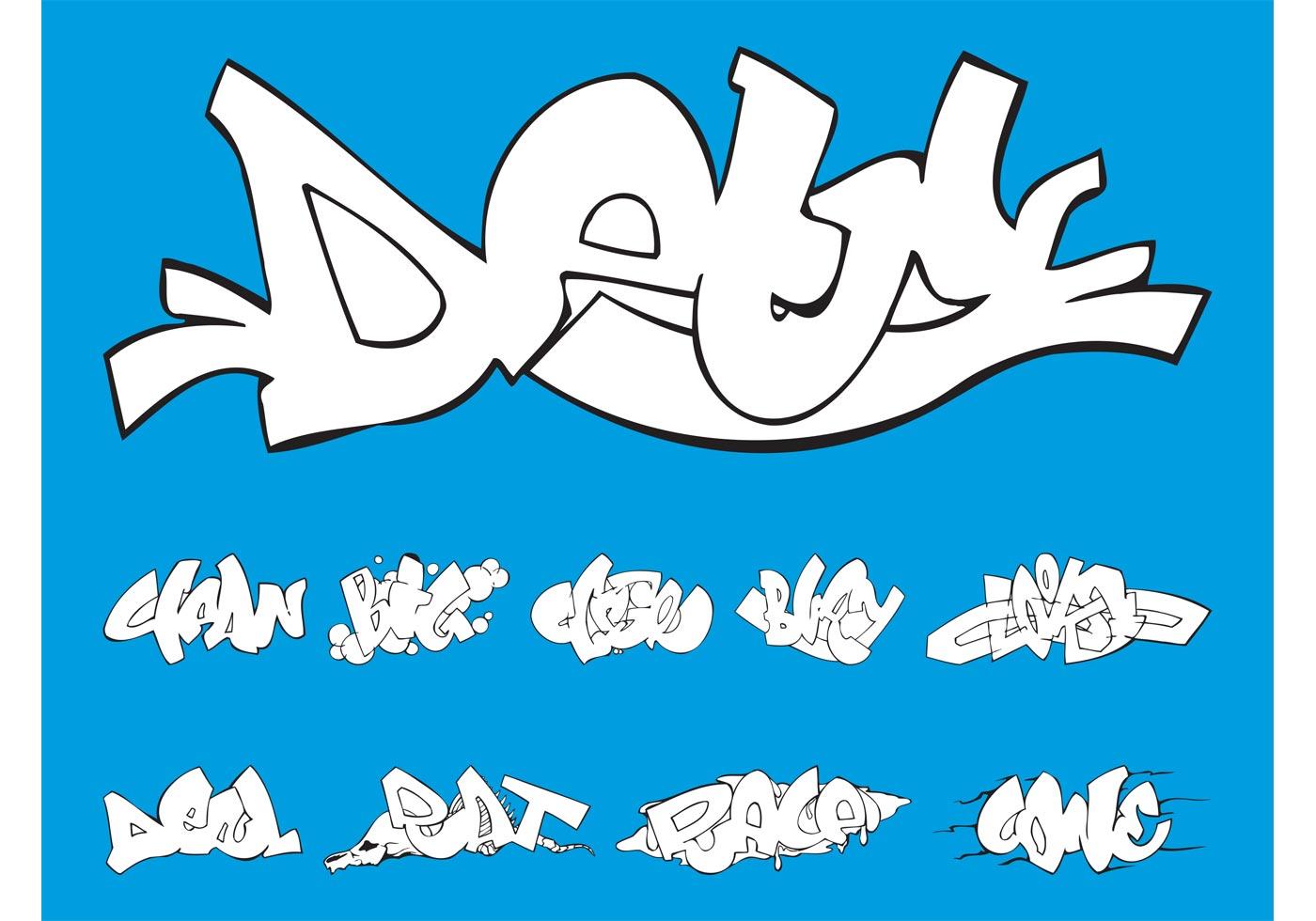 Graffiti Piece Set Download Free Vector Art Stock
