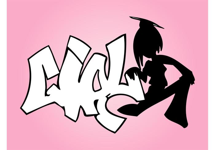 Angel Girl Graffiti