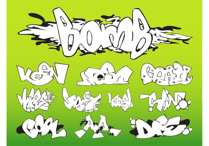Graffiti bitar