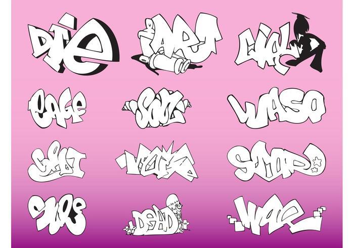 Graffiti Pieces Vector