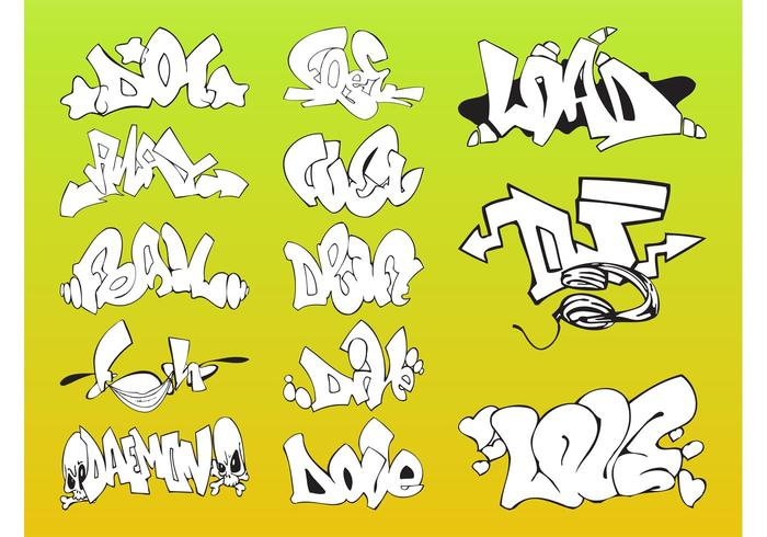 Vector Graffiti Pieces