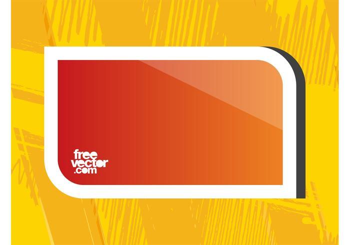 Orange klistermärke