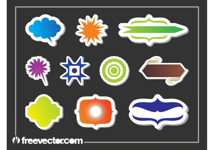 Sticker Graphics Shapes Set