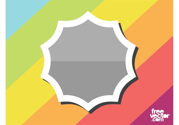 Gray Sticker Template