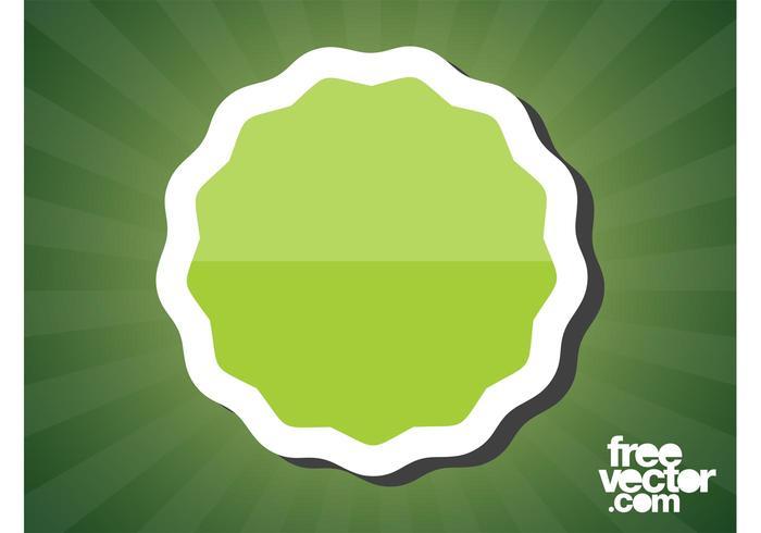 Green Sticker Vector