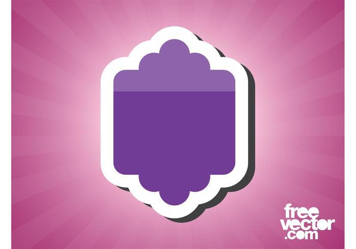Purple Sticker Template