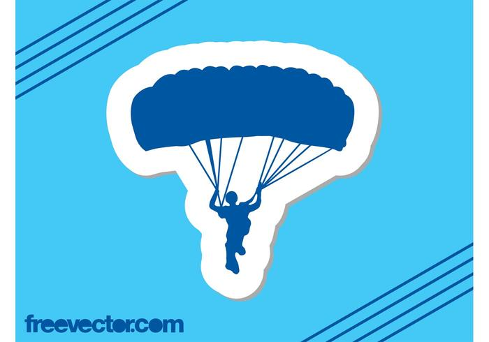 Parachuter Sticker
