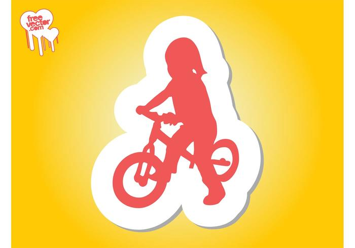 Girl On Bike Silhouette