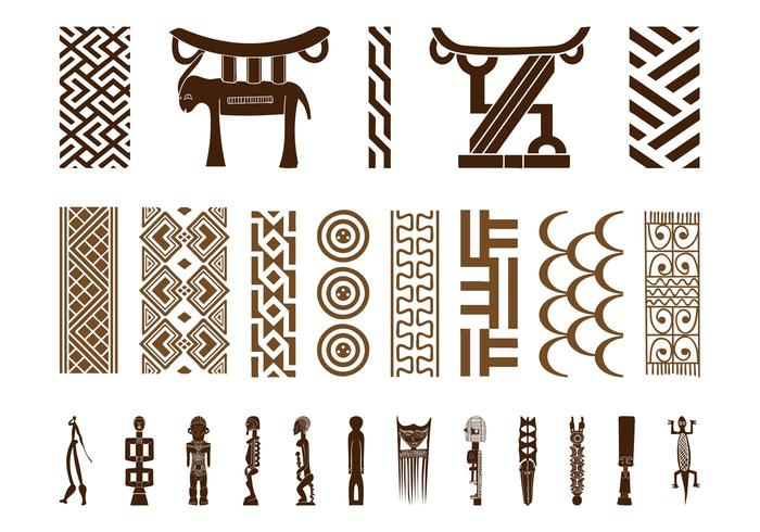 African Symbol Set Download Free Vector Art Stock Graphics Images