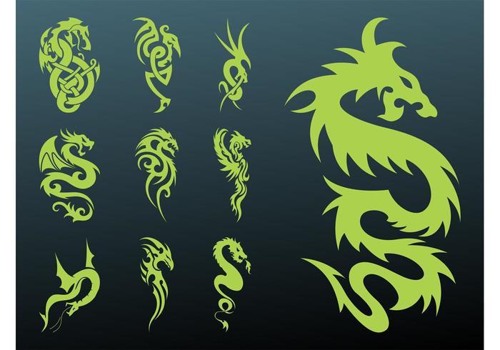Dragons Tattoo Set
