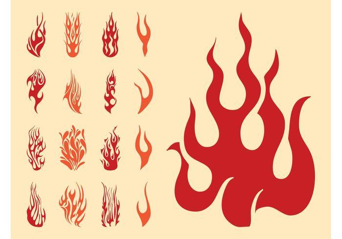 Flame Silhouettes Set