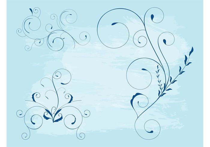 Swirling Flower Stems