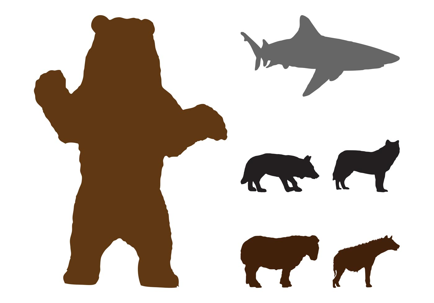 Wild Animals Silhouettes Graphics Download Free Vector