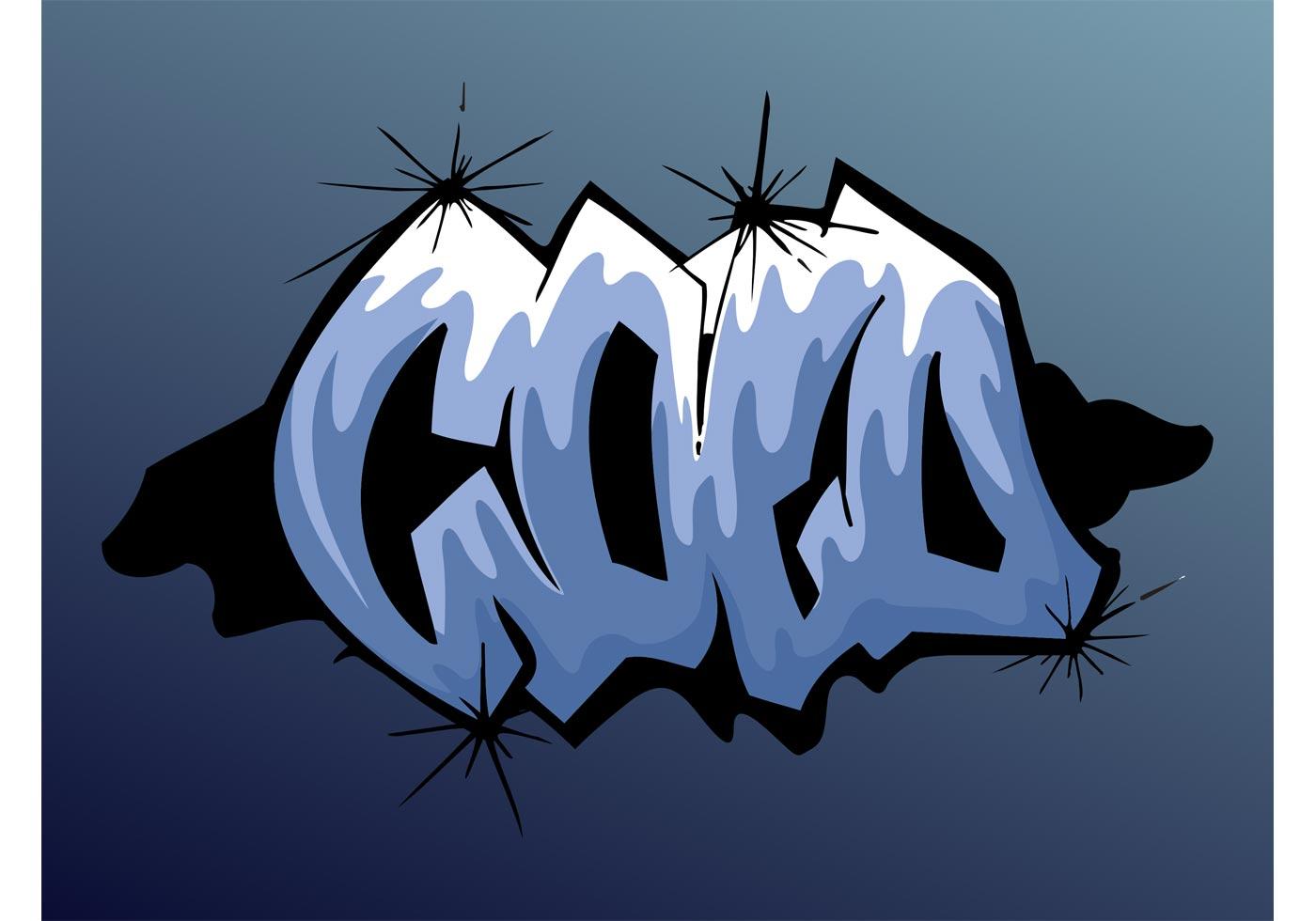 Cold Graffiti Piece Download Free Vector Art Stock