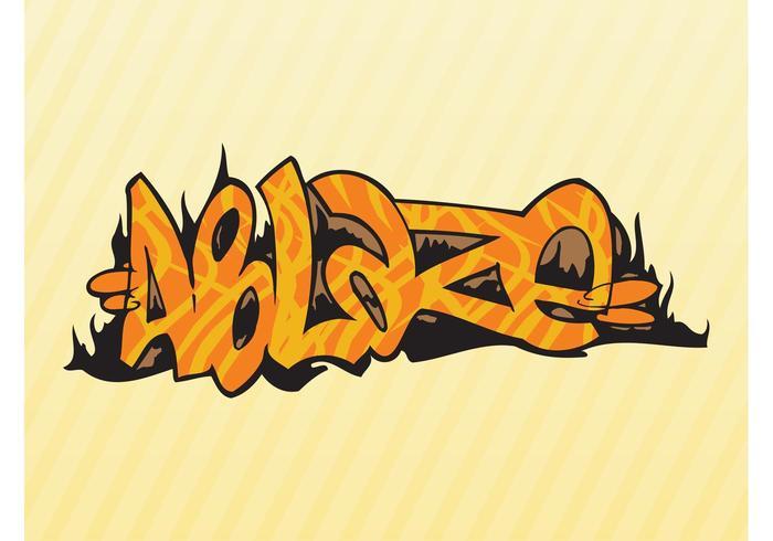 Burning Graffiti Piece