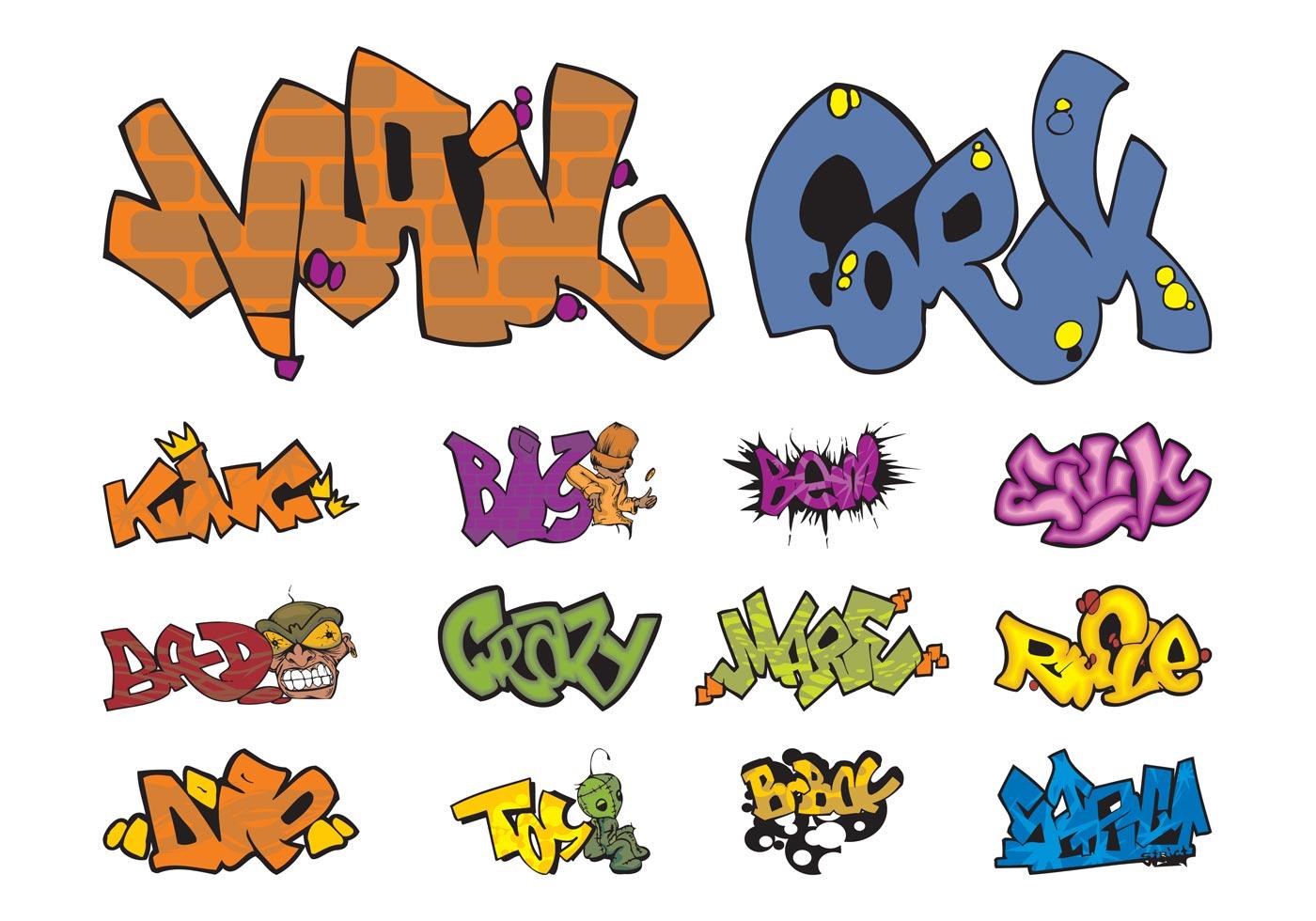 Graffiti Pieces Vectors Download Free Vector Art Stock Graphics Images