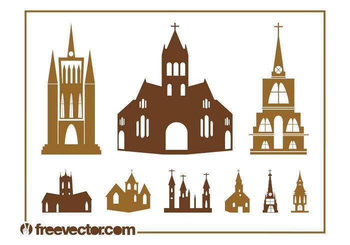 Church Silhouettes Set