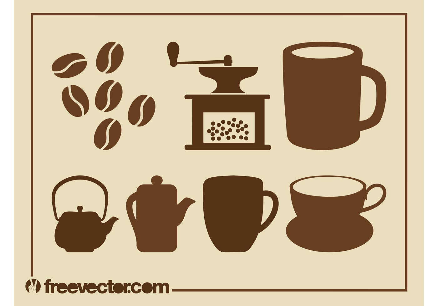 Tea And Coffee Set Download Free Vector Art Stock