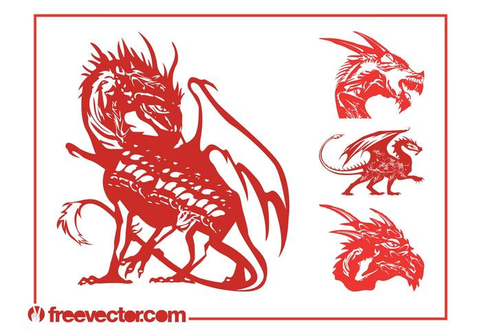 Vector Dragons Set