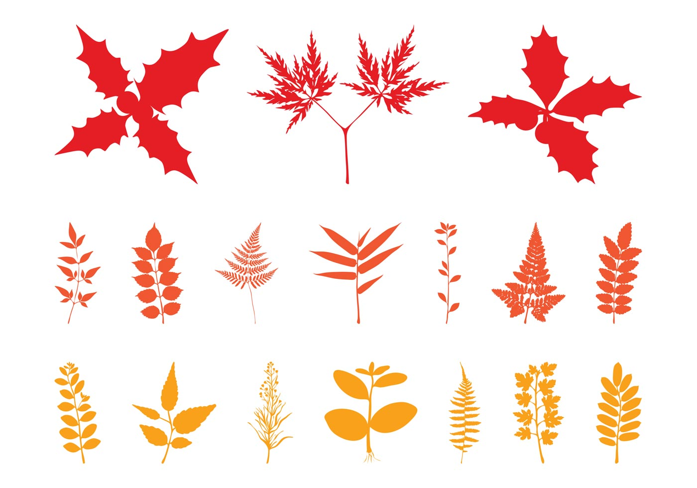 Autumn Leaves Silhouettes - Download Free Vector Art ...