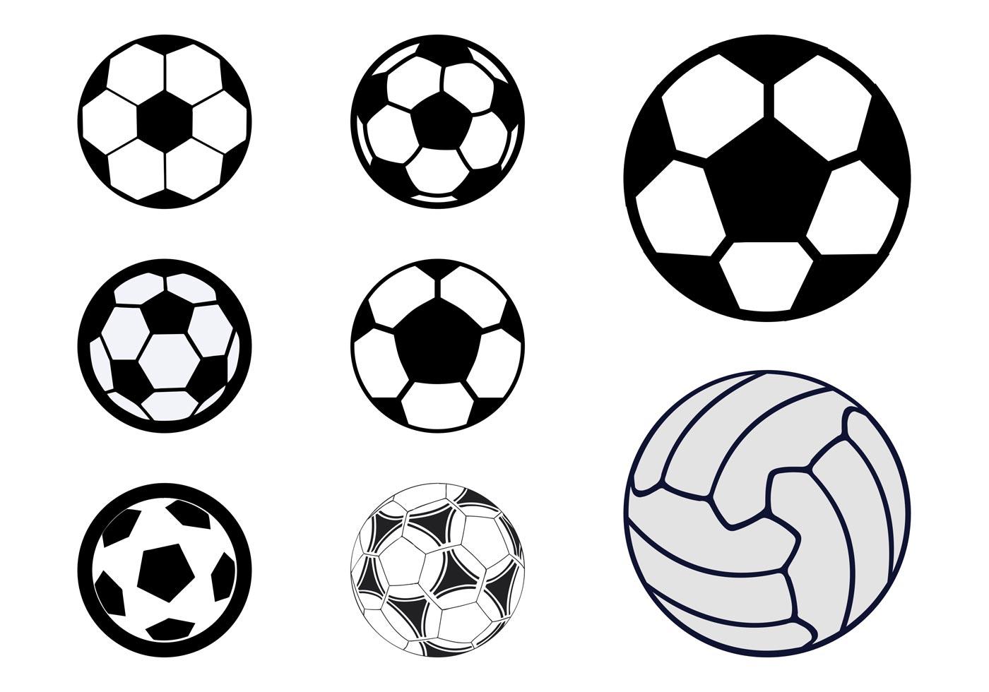 balls sports vector ball soccer clipart icons clip vectors stylized graphics games freevector footballs football bola