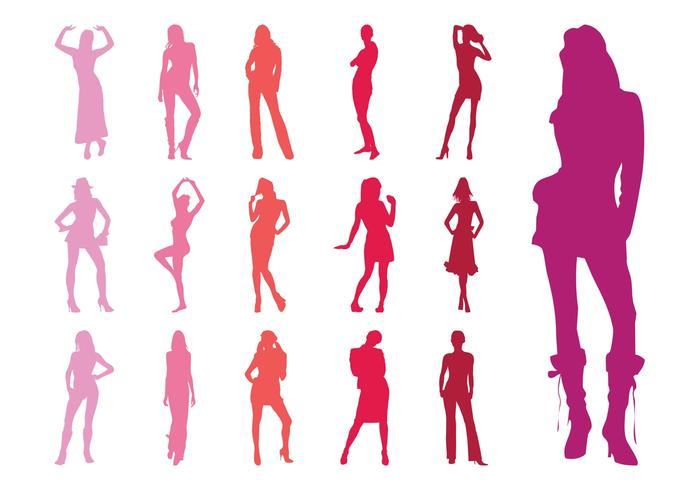 Fashion Models Silhouettes Collection