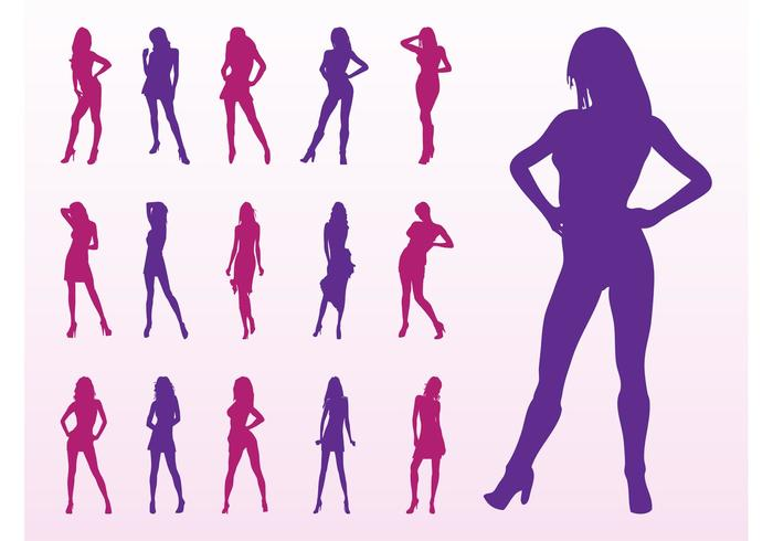 Fashion Model Silhouettes