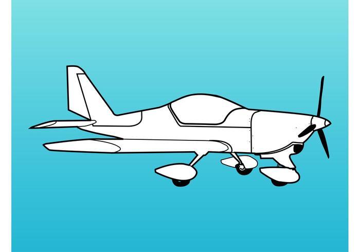 Graphiques rétro de l'avion