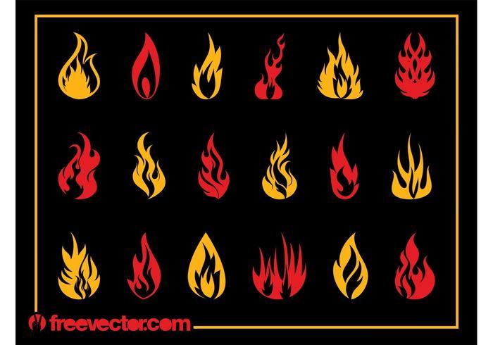 Burning Flames Set
