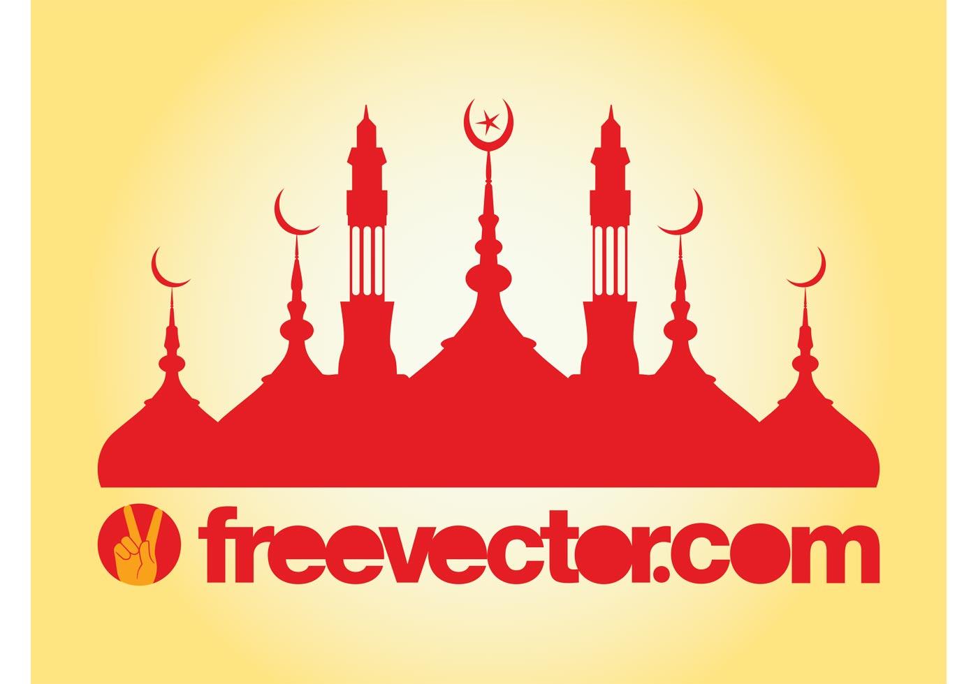 mosque silhouette vector download free vector art stock