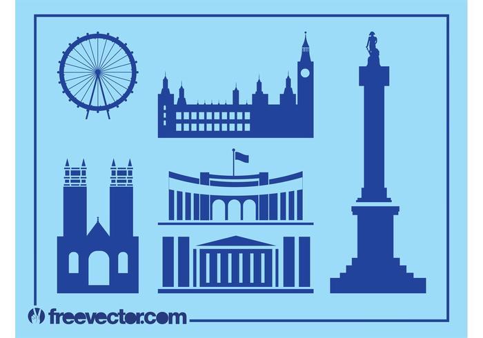 London Landmarks Silhouettes