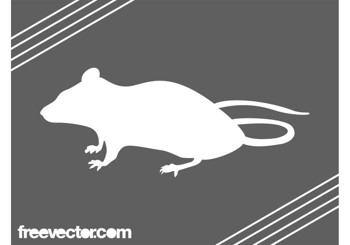 White Mouse Silhouette