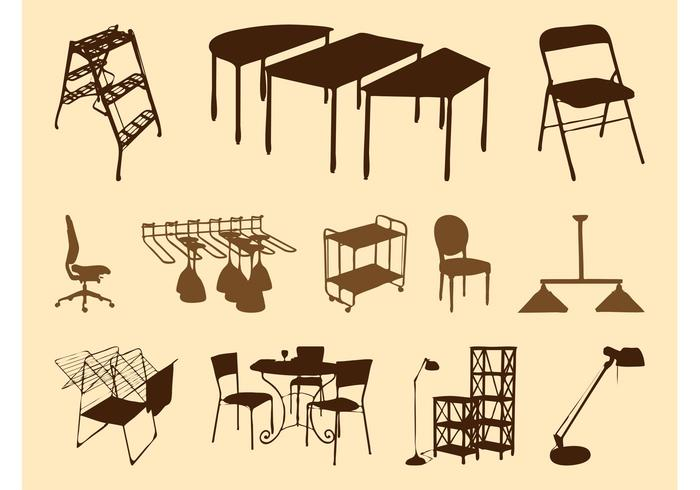 Furniture Silhouettes Set