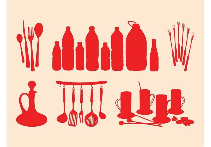 Kitchenware Silhouettes Set