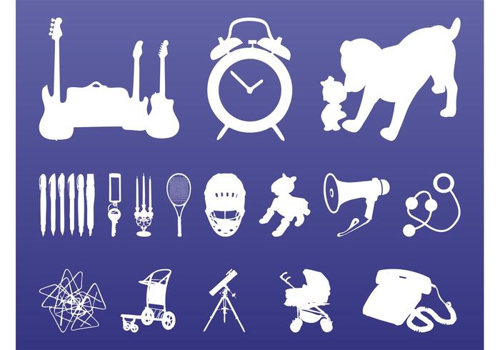 Random Objects Silhouettes