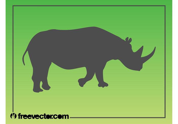 Rhinoceros Silhouette