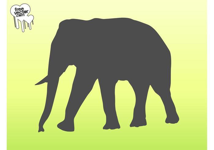 Vector Elephant Silhouette Graphics