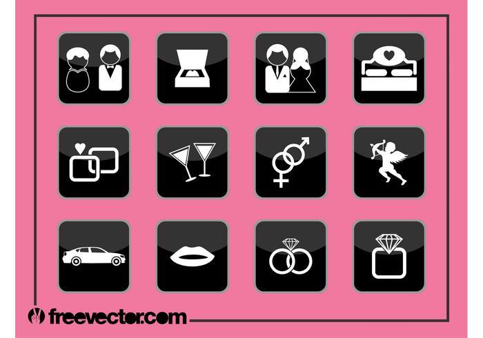 Love Icons Graphics