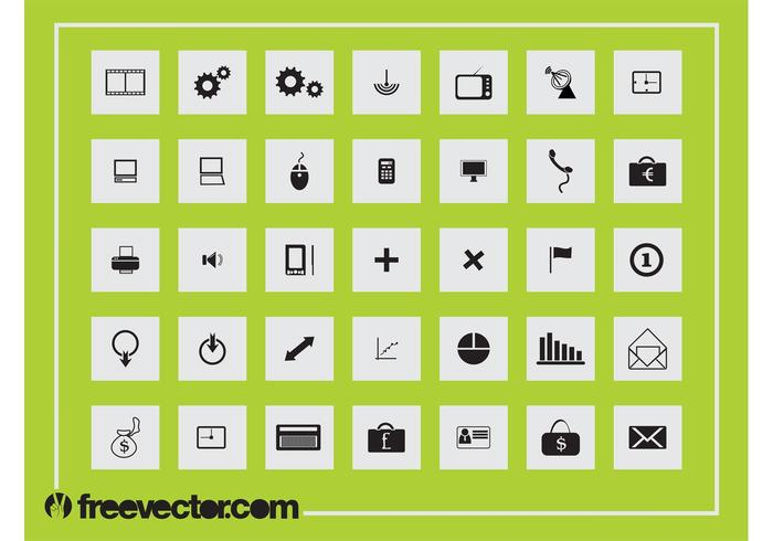 Square Icons Graphics