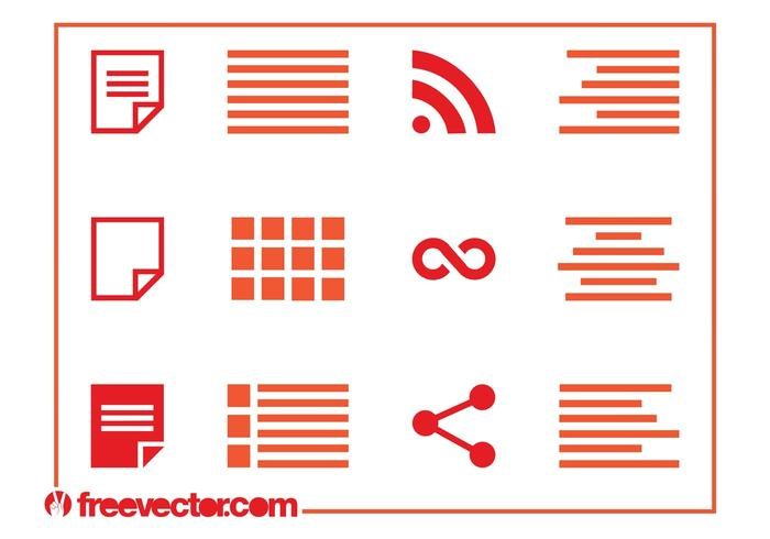 Formatting Icons Set